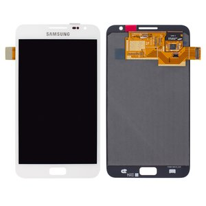 LCD for Samsung I9220 Galaxy Note, N7000 Note Cell Phones, (white, with touchscreen, original (change glass) )