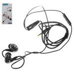 Headphone Konfulon IN19, (vacuum, black, TRRS 3.5 mm)