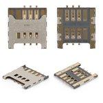 Conector de tarjeta SIM puede usarse con Samsung C3222, C3350, C3530, C3750, C3752, E1050, E1230, E1232, E2222, E2530, E2600, E2652, E3210, I5510, I9000 Galaxy S, I9001 Galaxy S Plus, I9220 Galaxy Note, N7000 Note, N7005 Note, S3350, S3850 Corby II, S5300 Pocket, S5360 Galaxy Y, S5380 Wave Y, S5570 Galaxy Mini, S5610, S6500 Galaxy Mini 2