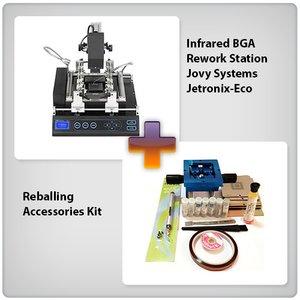 Инфракрасная паяльная станция Jovy Systems Jetronix-Eco с набором для реболлинга