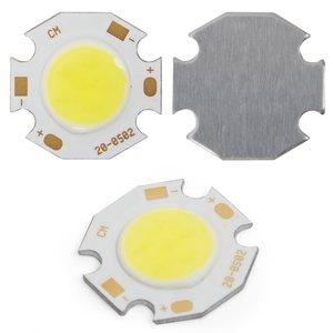 COB LED модуль 5 Вт (холодный белый, 450 лм, 20 мм, 300 мА, 15-17 В)