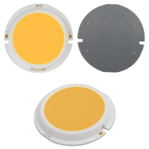 COB LED модуль 7 Вт теплий білий, 450 лм, 43 мм, 300 мА, 21 23 В