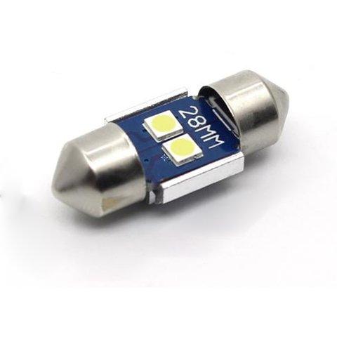 LED лампа для салону автомобіля UP SJ N2 3030 28MM білий, 12 14 В