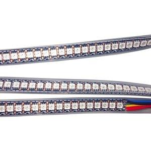 Світлодіодна стрічка RGB SMD5050, WS2813 (чорна, з управлінням, IP67, 5 В, 144 діодів/м, 1 м)