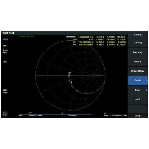 Програмне розширення Векторний аналіз мережі SIGLENT SVA1000X VNA