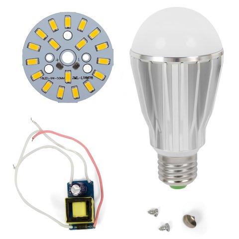 LED Light Bulb DIY Kit SQ Q17 9 W warm white, E27 , Dimmable