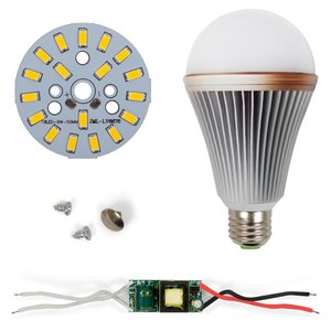 Juego de piezas para armar lámpara LED regulable SQ-Q24 5730 9 W (luz blanca cálida, E27)